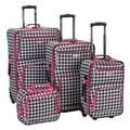 Rockland 4 Piece Luggage Set; Pink Kensington