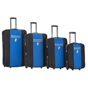 Rockland Polo Equipment 4 Piece Expandable Luggage Set; Navy