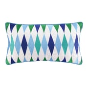 Sis Boom by Jennifer Paganelli Franca Embroidered Linen Lumbar Pillow; Blue
