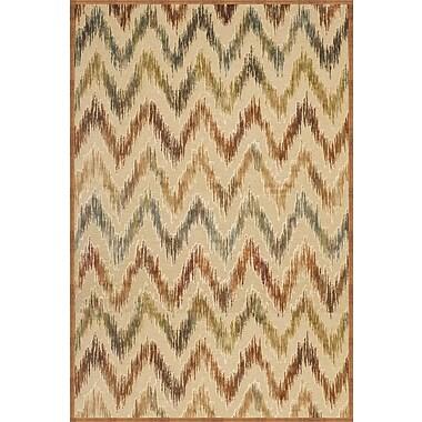 Abacasa Sonoma Ivory/Rust/Tan/Aqua Area Rug; 7'10'' x 11'2''