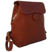 Piel Fashion Avenue Ladies Backpack; Saddle