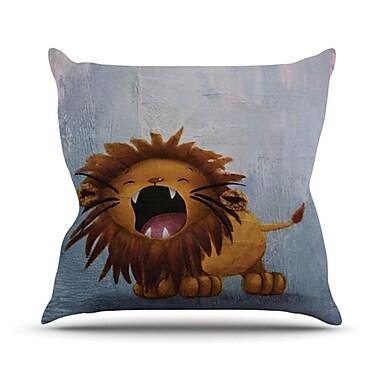 KESS InHouse Dandy Lion Throw Pillow; 18'' H x 18'' W