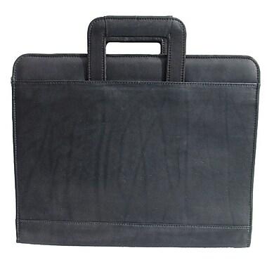 Piel Three-Ring Binder Briefcase; Black