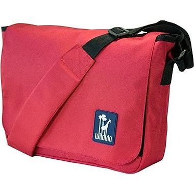 Wildkin Solid Colors Straight-Up Kickstart Messenger Bag; Red