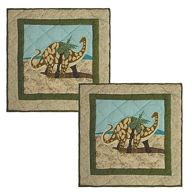 Patch Magic Dinosaur Cotton Throw Pillow (Set of 2)