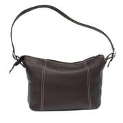 Piel Medium Shoulder Bag; Chocolate