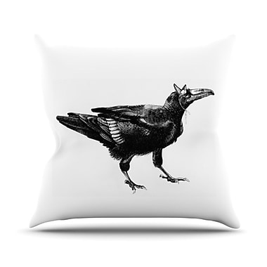 KESS InHouse Raven Throw Pillow; 18'' H x 18'' W