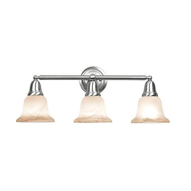 Woodbridge Hudson Glen 3 Light Vanity Light; Satin Nickel