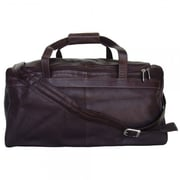 Piel Blushing Red Collection Traveler's Select 18'' Small Duffel Bag; Chocolate