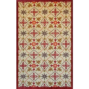 Abacasa Lifestyle Kinsley Beige/Red Area Rug; 8' x 10'