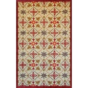 Abacasa Lifestyle Kinsley Beige/Red Area Rug; 5' x 8'