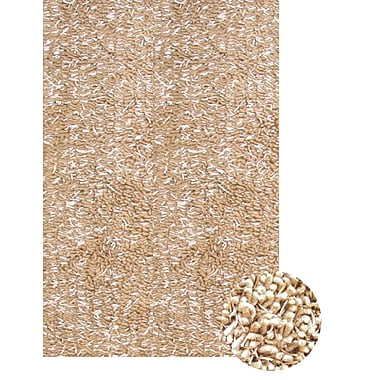 Abacasa Lifestyle Shag Ivory/Tan Area Rug; 8' x 10'