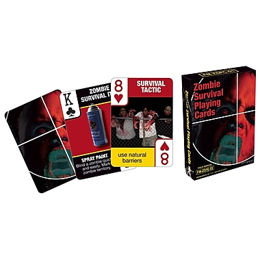 Aquarius Zombie Survival Tips Playing Cards