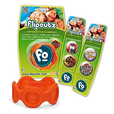 Wild Creations Flipoutz Bracelet with One Coin and Two Additional Coin Pack in Orange