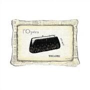 Fine Art Tapestries L'Opera Lumbar Pillow