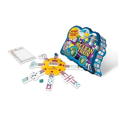 Puremco Dominoes Mexican Train Deluxe Double 12 Domino Game with Dots