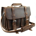 Vagabond Traveler Heavy Duty Leather Briefcase