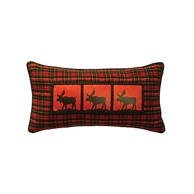Wooded River McWoods I Moose Heat Transfer Throw Pillow