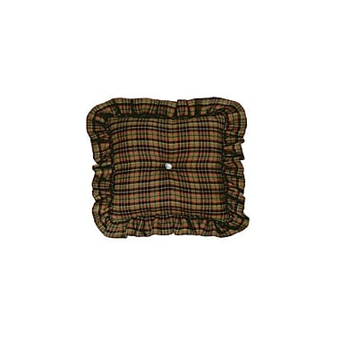 Wooded River Moose I Plaid Throw Pillow