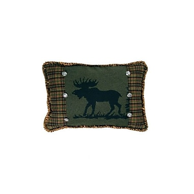 Wooded River Moose I Throw Pillow