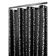 Watershed Prints Polyester Bubbles On A String Shower Curtain; Black / White