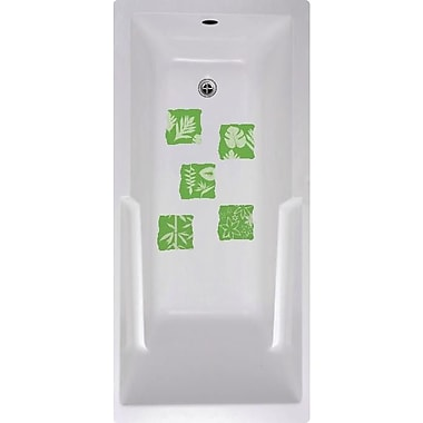 No Slip Mat by Versatraction Floral Tiles Bath Tub and Shower Treads (Set of 5)