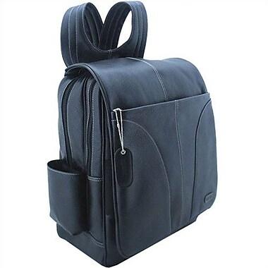 Leatherbay Laptop Backpack; Black