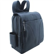 Leatherbay Laptop Backpack; Black