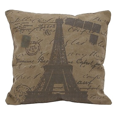 Woodland Imports Cotton Throw Pillow; Deep Brown