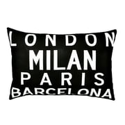 Uptown Artworks Cities of Europe Linen Throw Pillow