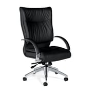Global Total Office Softcurve High-Back Pneumatic Office Chair; Kidney Shaped Arms And Multi-Tilter