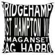 Uptown Artworks Hamptons 4 Line Linen Throw Pillow