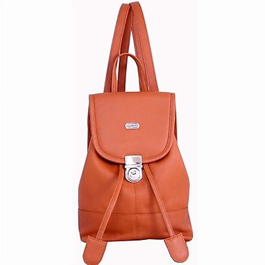 Leatherbay Leather Mini Backpack; English Tan