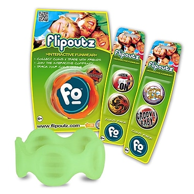 Wild Creations Flipoutz Bracelet with One Coin and Two Additional Coin Pack in Glow in the Dark