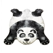 Walk On Me Panda Black Outdoor Area Rug; Panda 2'3'' x 3'8''