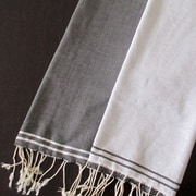 Scents and Feel Split Fouta Towel; White / Black