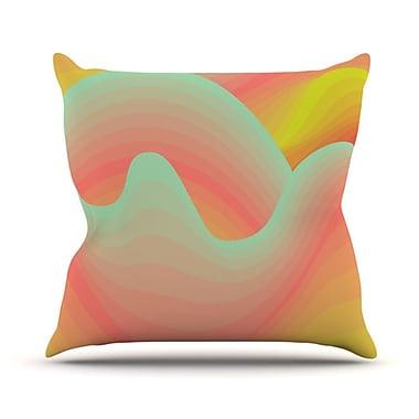 KESS InHouse Way of the Waves Blossom Bird Throw Pillow; 18'' H x 18'' W