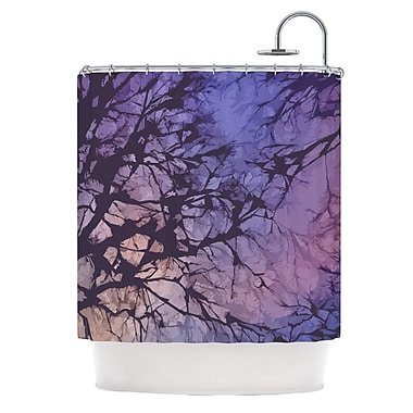 KESS InHouse Skies Shower Curtain; Violet