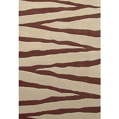 Acura Rugs Contempo Beige/Brown Area Rug; 8' x 10'6''