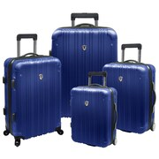 Traveler's Choice New Luxembourg 4 Piece Expandable Hard-Sided Luggage Set; Blue