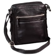 Winn International Full Grain Cowhide Leather CompactTravel/Camera Bag; Tan Canvas