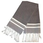 Scents and Feel Fouta Herringbone Stripe Hand Towel; Black/White Stripe