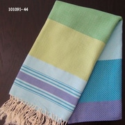 Scents and Feel Fouta Honeycomb Weave Towel; Turquoise
