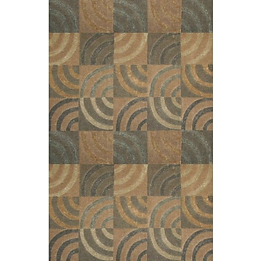 Abacasa Lifestyle Newton Tan/Grey Area Rug; 5' x 8'
