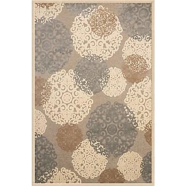 Abacasa Napa Grey/Tan/Ivory Area Rug; 5'3'' x 7'6''
