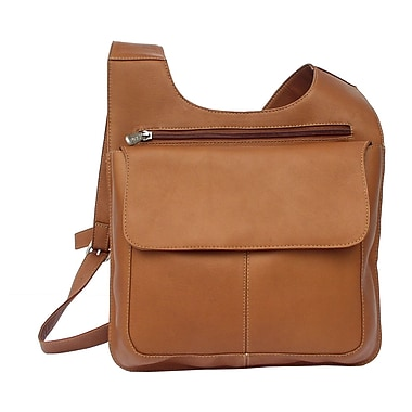 Piel Fashion Avenue Slim Line Mail Bag; Saddle