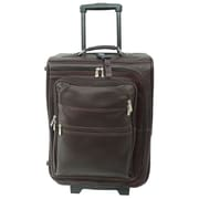 Piel Traveler 19'' Multi-Pocket Wheeler Suitcase; Chocolate