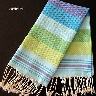 Scents and Feel Fouta Honeycomb Weave Hand Towel; Turquoise