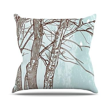 KESS InHouse Winter Trees Throw Pillow; 26'' H x 26'' W