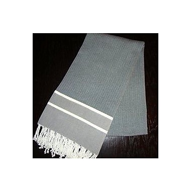 Scents and Feel Fouta Herringbone Stripe Towel; Black/White Stripe